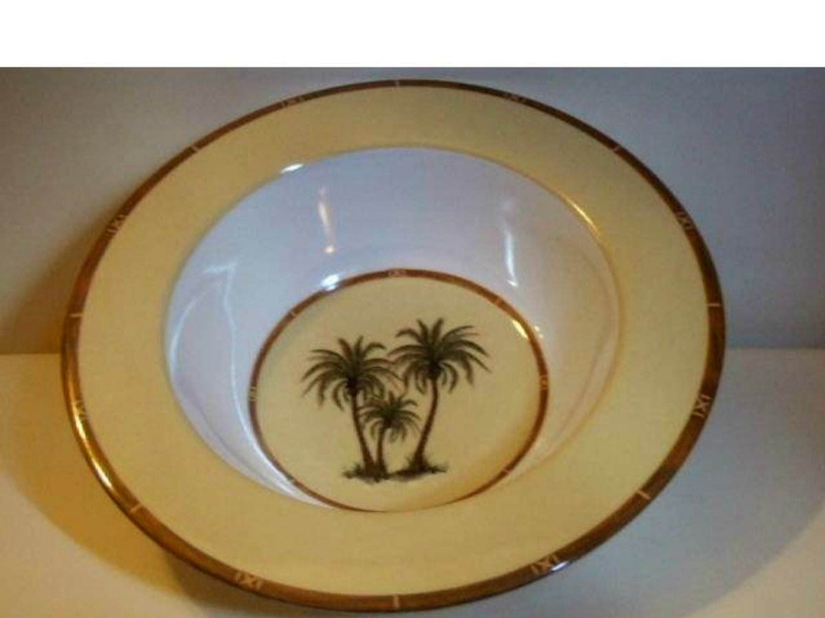 Salad Bowls Tropical Palm Trees Set of 4