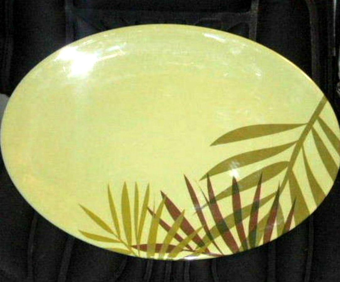 Botanical Palm Tree Fronds Kitchen Platter
