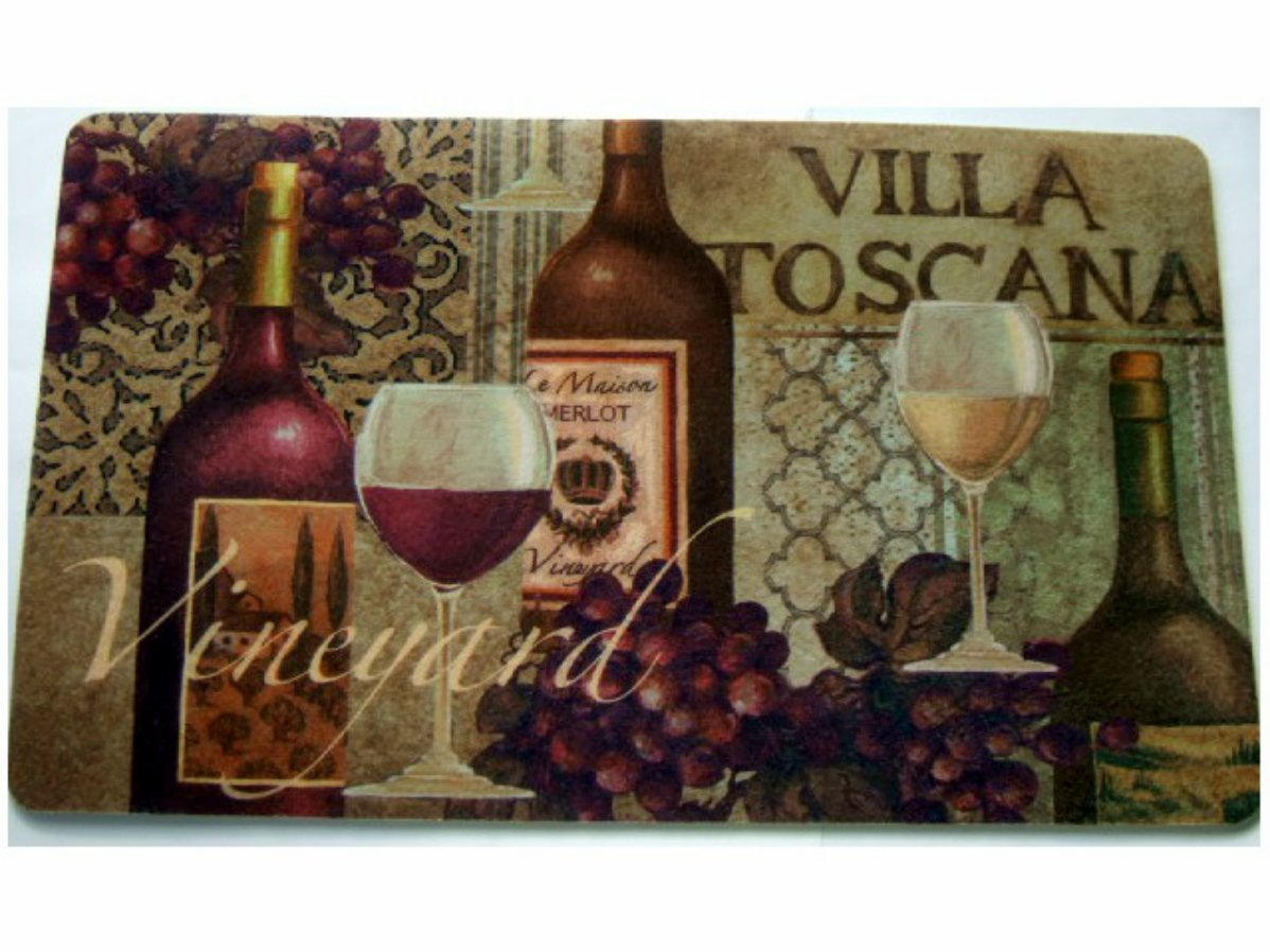 Tuscan Wine Grapes Kitchen Rug Cushion Mat