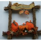 Fall Pumpkins Wreath Autumn Greetings