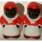 African American Lady Salt and Pepper Shakers Set