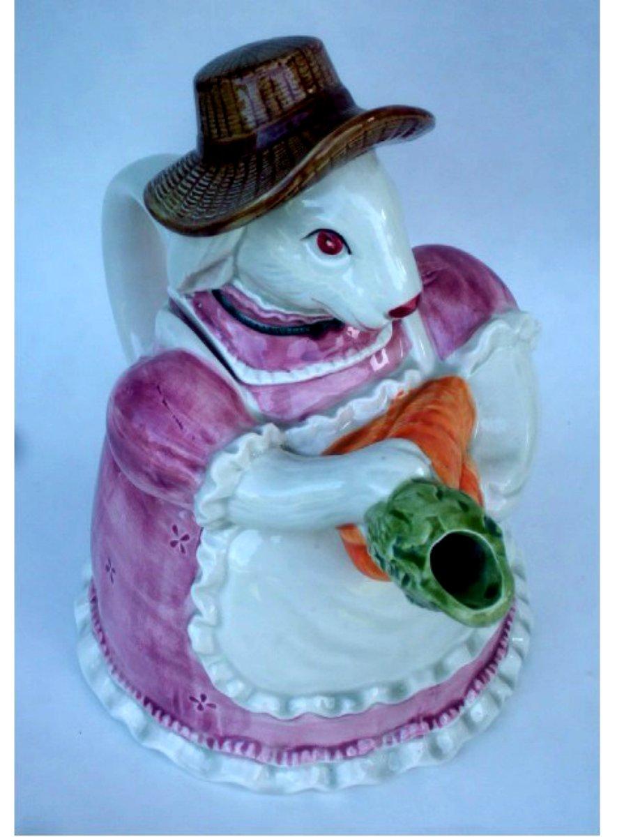 Vintage Otagiri Rabbit Teapot with Carrots