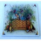 Basket of Flowers Fruit Ceramic Tile Trivet