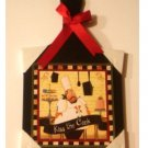 Fat Chef Kitchen Wall Plaque Kiss the Cook