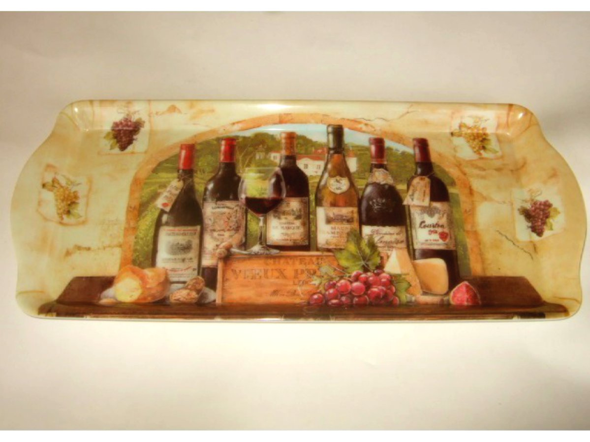 Wine Grapes Tuscan Themed Kitchen Tray