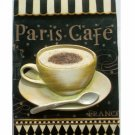 Paris Cafe Coffee Cup Resin Wall Plaque
