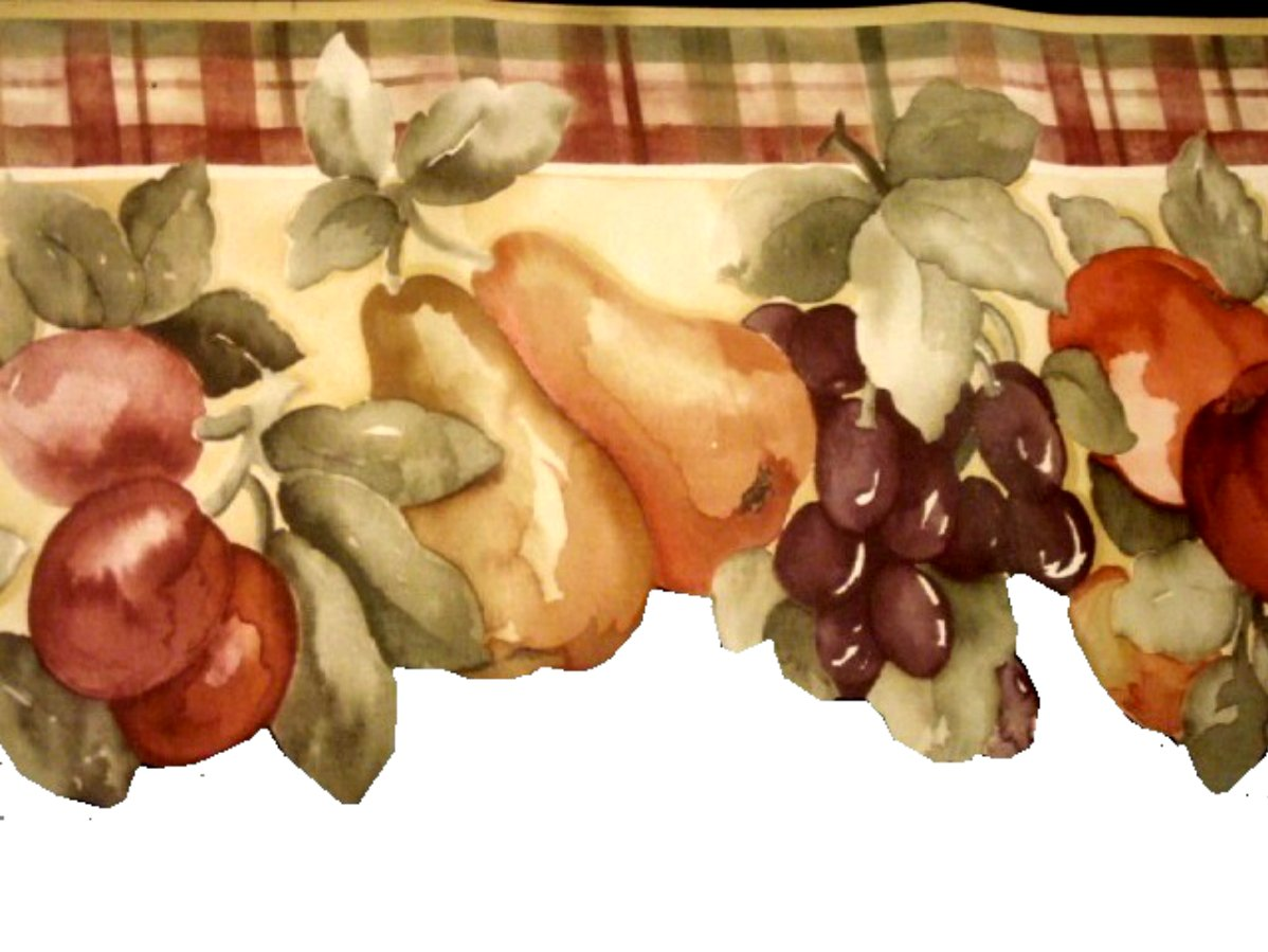 Fruit Themed Wallpaper Border