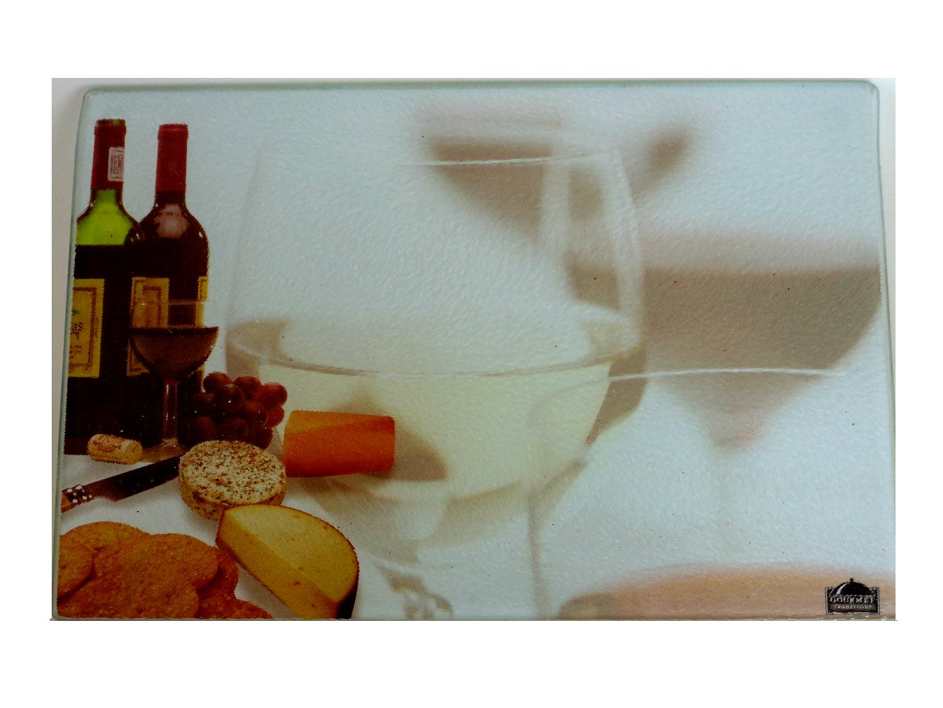 Tuscan Wine Grapes Glass Kitchen Cutting Board