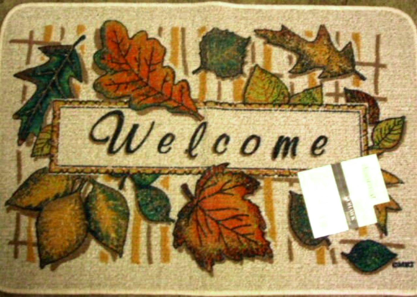 Autumn Leaves Welcome Doormat Rug