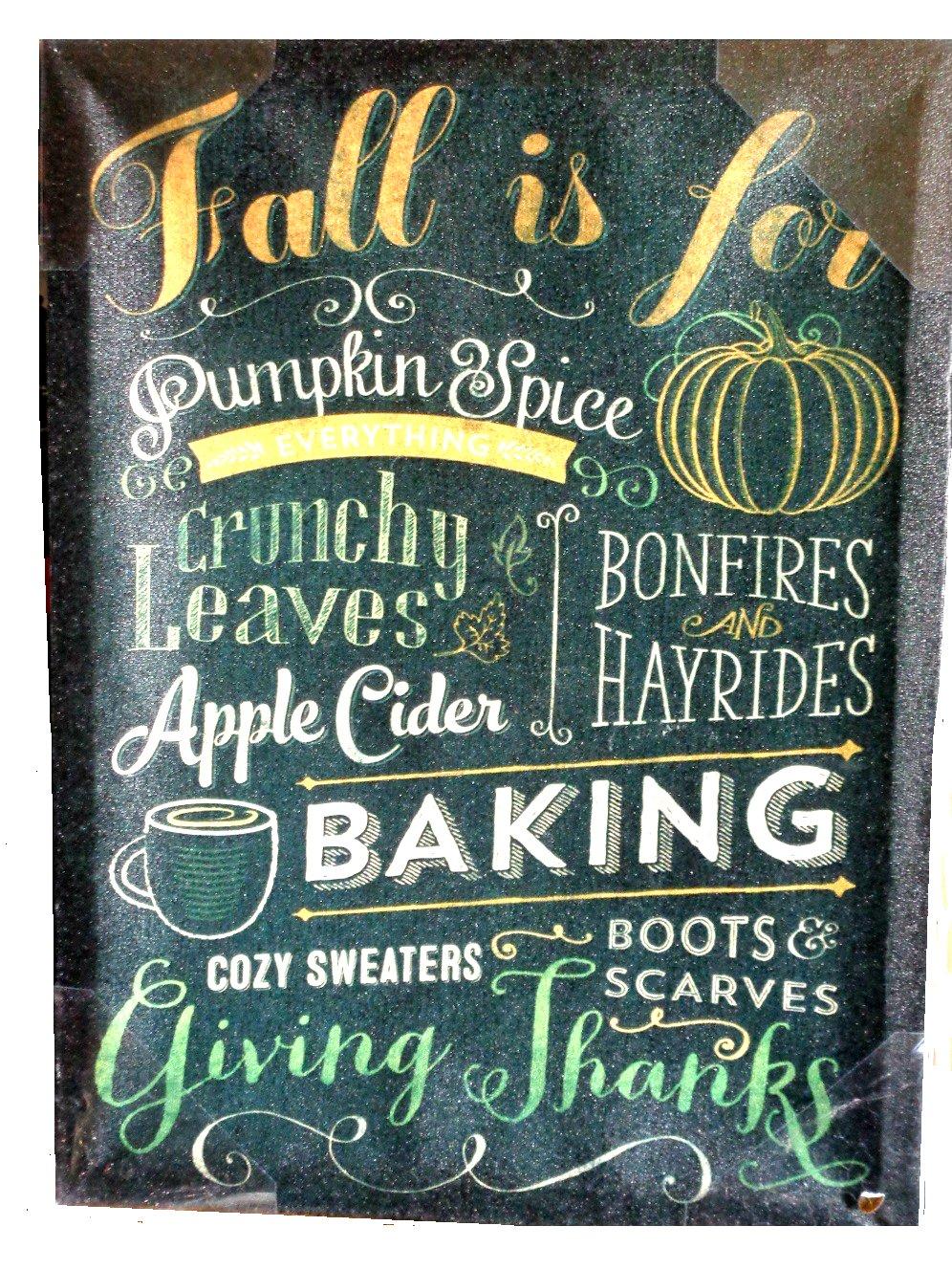 Fall Themed Wall Art Sign Autumn Favorites