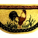 Country Rooster Kitchen Rug Super Size Slice Mat
