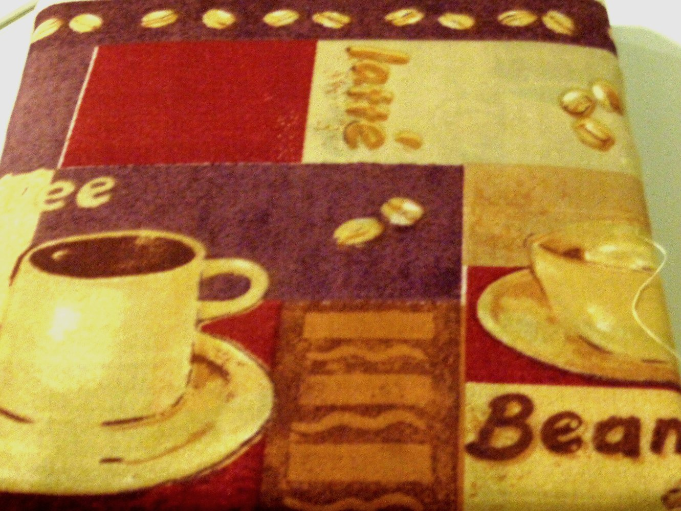 Coffee Cups Kitchen Curtains Set Swag Valance Tiers Complete Set