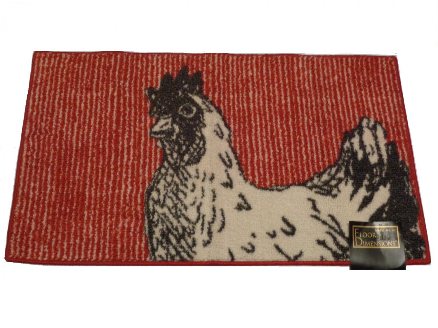 Rooster Kitchen Rug Black White Red Country Kitchen Decor