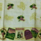 Grapes Wine Labels Kitchen Towels Set Linens