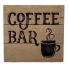 Coffee Bar Sign Wood Kitchen Plaque
