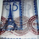 Paris Eiffel Tower Shower Curtain and Shower Rings Set