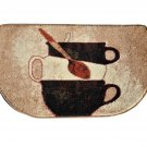 Stacked Coffee Cups Kitchen Rug