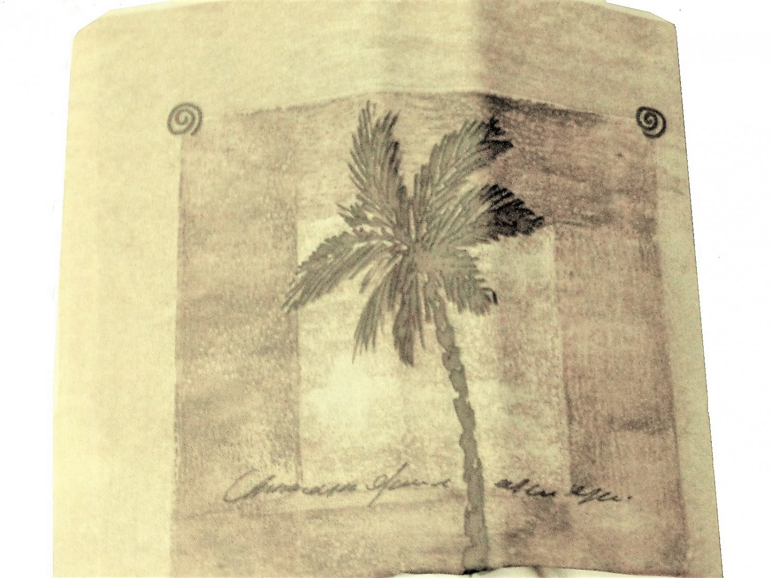 Tropical Palm Trees Fabric Shower Curtain