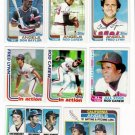 1982 Topps California Angels Team Set-33 Cards