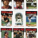 1986 Topps Cleveland Indians Team Set-27 Cards