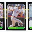 1987 Donruss Detroit Tigers Team Set-22 Cards