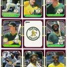 1987 Donruss Opening Day Oakland Athletics-11 Cd