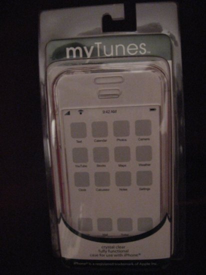 MY TUNES Crystal CLEAR HARD PLASTIC CASE for iPhone NEW