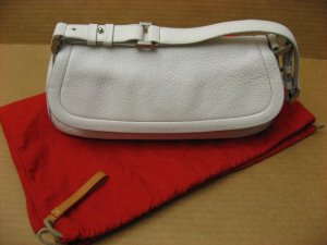 Ellen Tracy white leather shoulder handbag Pre-owned