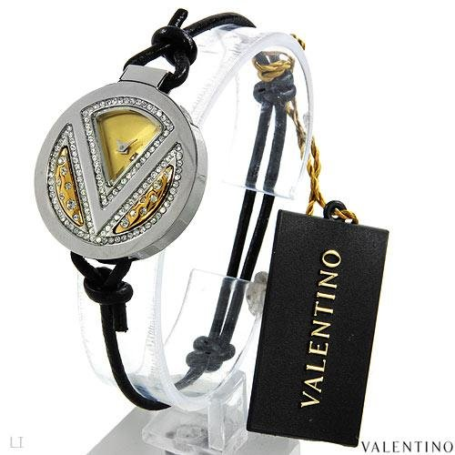 NEW VALENTINO Ladies Watch Swiss Quartz Movement in Solid Black Leather & Stainless steel $700