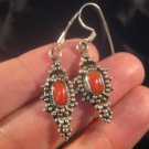 925 Silver Himalayan mountain coral earrings Nepal A