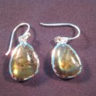 925 Silver Labradorite crystal stone earrings A