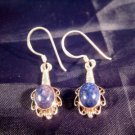925 Silver Lapis Lazul Lazuli stone earrings Nepal  A