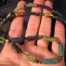 925 Silver Roman Glass Necklace antique beads 1700 YRS A