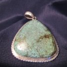 925 Silver Tibetan Turquoise pendant Nepal Jewelry A