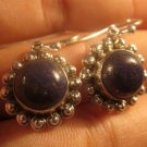 925 Silver blue Lapis Lazul Lazuli earrings Nepal A