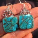 925 Silver Turquoise crystal stone earrings