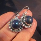 925 Silver Lapis Lazul Lazuli earrings earring A