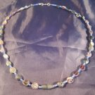 925 Silver Antique Roman Glass Bead Necklace 1500 yrs A