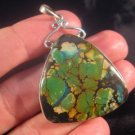 925 Silver Natural Turquoise Pendant Nepal Jewelry A