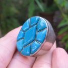 925 Silver Arizona Turquoise Ring Jewelry Size 7.75 8 A