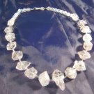 925 Silver Quartzite Quartz crystal stone Necklace A