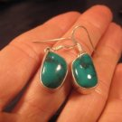 .925 Silver Himalayan Turquoise earrings Nepal Jewelry A