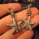 925 Silver starfish earrings Hill Tribe Thailand A