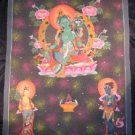 24 K Gold Large Green Tara Thangka Thanka Tanka Painting Nepal Art Kathmandu
