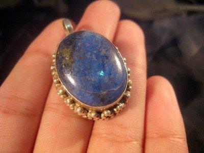 925 Silver Lapis Lazuli Lazuli Pendant Nepal Jewelry A
