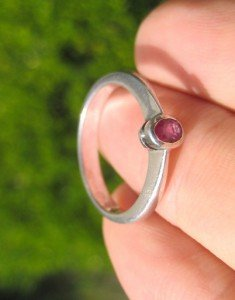 925 Silver Thailand natural Ruby Ring Size 7 A
