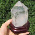 Natural Quartz Crystal polished Point Mineral art A
