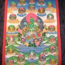 Large Green Tara Buddha Thangka Tanka Painting Nepal A
