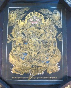 24 K Gold Wheel Of Life Thangka Thanka Painting Nepal A