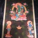 24 K Gold Large Green Tara Thangka Thanka painting Nepal Himalayan Art Kathmandu